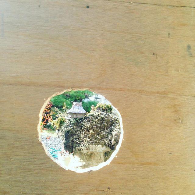 庭で10分かけて煙突様にベニアに穴を開ける 笑 そ...