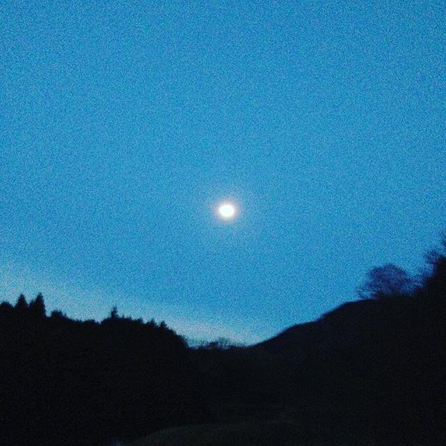 そろそろ満月ですかね〜月の引力と地球は潮の満ち引きで、地球の重い海水を、、凄いですね〜月にクレーターが、たくさんありますね!最近隕石が、衝突する映像を観ましたが、御月様様!月は、また、地震が何分も続くらしいですよ!今日みたいに月が、照らしてくれるので、暗くまで作業してます。朝はマイナス4度でしたので、あと少し苗木の植えるのは、先にしてます。