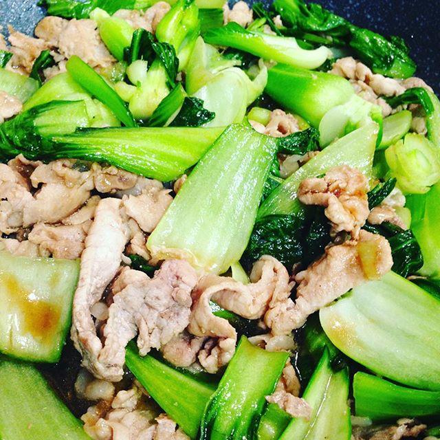 チンゲン菜と、オイスターソースで、簡単お手軽で、お昼ご飯