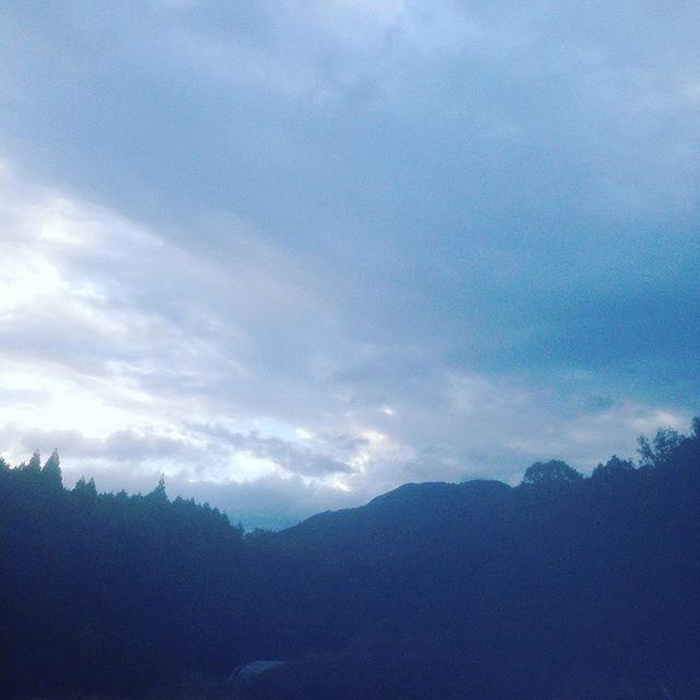 気温9℃、まもなく雨が降る予報の朝です!