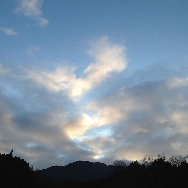 気温3〜4℃微風の北風で霜が畑は、降りてます!雲がありますが晴れてます!