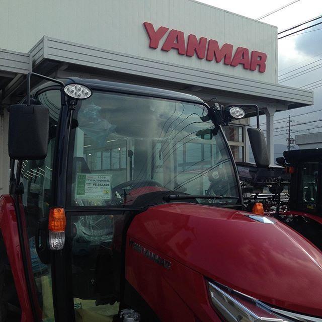 ヤンマーに来ました!518万円のトラクターフェラーリのデザイナーとか!農業、重機は高額ですね〜